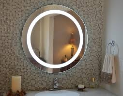Round Bathroom Mirrors by Outstanding 10x Lighted Wall Makeup Mirror Horizontal Led Bathroom
