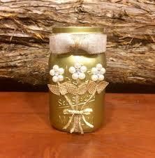 Mason Jar Wedding Centerpieces Gold Mason Jar Wedding Mason Jar Rustic Mason Jar Rustic