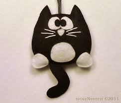 felt ornaments tuxedo cat felt ornament licorice the