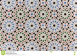 Morocco Design by Oriental Mosaic Decoration Morocco Wall Tiles Stock Photo