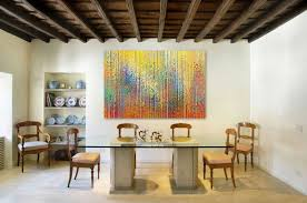 kitchen table art dining room contemporary with white wall white