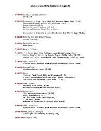 wedding program format exles wedding reception program templates search wedding do s