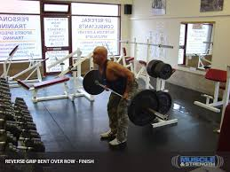 Bench Barbell Row Reverse Grip Bent Over Row Video Exercise Guide U0026 Tips