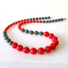 red big necklace images Vibrant gloss hematite necklace simple graces jewelry jpg