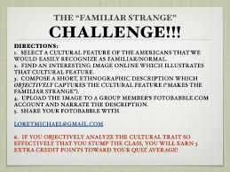 Challenge Directions Familiar Strange Challenge 1213