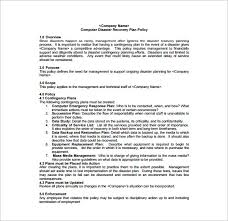 Sans Policy Templates by Disaster Recovery Disaster Recovery Plan Free Premium Templates