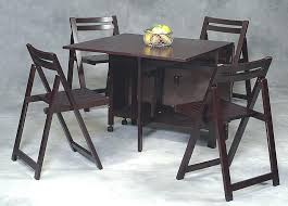 Folding Table With Chairs Inside Amazing Portable Dining Table Set Decor Coffee Table With Storage