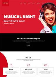 music website templates archives webthemez