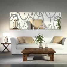 diy livingroom decor mirror mosaic wall art diy acrylic decor stickers living room