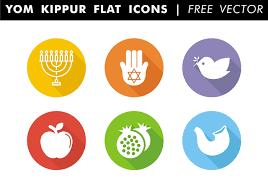 yom jippur yom kippur flat icons free vector free vector