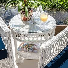 everglades 5 piece white resin wicker patio chat group by lakeview