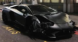 black on black lamborghini aventador matte black lamborghini aventador sv roadster crashes in w
