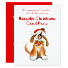 carol singing invitations announcements zazzle