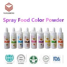 halal spray food coloring with fruit flavor concentrate for baking