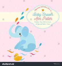 alphabet baby shower invitations baby shower invitation card elephant duck stock vector 639546421