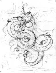 oriental dragon sketch by artbyari on deviantart