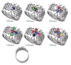 7 mothers ring silver 1 to 7 s ring