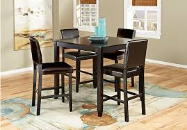 counter height dining room sets sunset view espresso 5 pc counter height dining set dining room