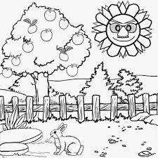 free printable scenery coloring pages kids sketch coloring