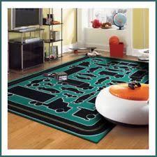 geometric area rug 8x10 checkerborad bright living kids playroom