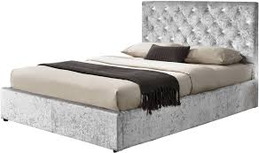 silver bed chatsworth ottoman crushed silver bed by sleep design