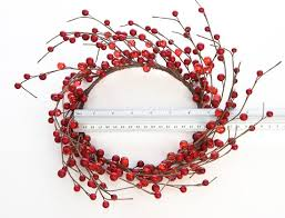 berry candle ring wreath pip berries primitive decor