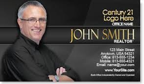 Century 21 Business Cards Realtor Business Cards Business Cards For Real Estate Agents