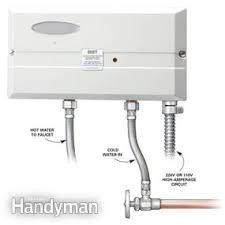point of use tankless water heater for kitchen sink choosing a new water heater family handyman
