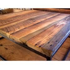 reclaimed wood square coffee table reclaimed wood furniture square coffee table w metal base the oak