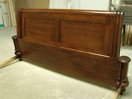 sleigh bed staining and finishing custom furniture and