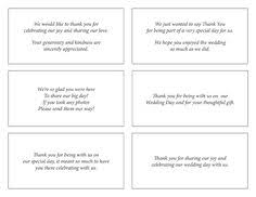 Wedding Card Examples Wording For Wedding Thank You Cards Examples Pacq Co