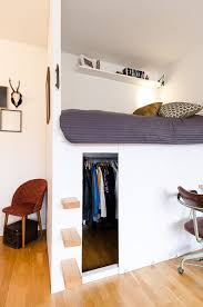 Bed Closet Low Loft Bed With Closet Underneath Interior Design For Small