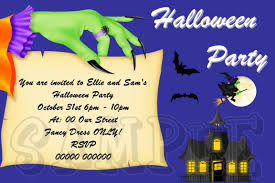 personalised halloween childrens fancy dress party invitations hal