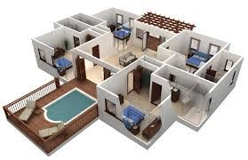 Simple Home Design Inside Style 2 Storey House Designs With Floor Plans 3d Image Intending To