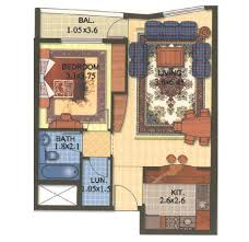 1 Bedroom House Plans by Beautiful 1 Bedroom Floor Plans 4 Dubai Marina Marina Diamond 1