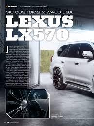 wald lexus lx570 mc customs press