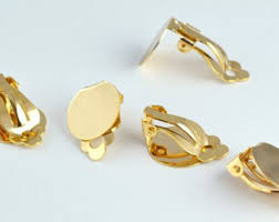 how to make your own clip on earrings 18k gold filled etsy