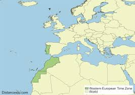 Map Time Zone by Wet West Western European Time Zone
