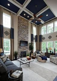 Living Room High Ceiling 26 Blue Living Room Ideas Interior Design Pictures Designing Idea