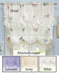 amazon com collections etc allison balloon lace curtain and
