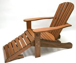 chair with built in ottoman amazon com outdoor interiors cd3111 eucalyptus adirondack chair