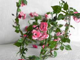 rose garland accessories miniature roses wired fairy garden