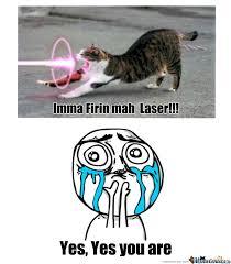 Laser Meme - laser cat by duckstep meme center
