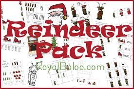 free printable reindeer activities reindeer printable packs prek kinder and first free school and