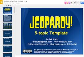 Great Jeopardy Template For Google Slides Ed Tech Google Jepordy Template
