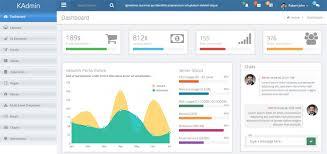 kadmin u2013 free responsive admin dashboard template ninodezign com