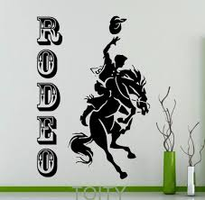 compare prices cowboy western decor online shopping buy low rodeo poster retro wall sticker cowboy horse vinyl decal home interior decoration wild western art mural