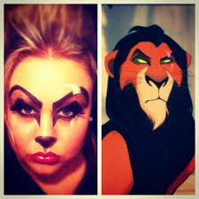 Cheetah Face Makeup For Halloween Scar Makeup Lion King Happy Halloween Makeup Pinterest