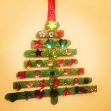 lollipop stick christmas tree toddler christmas craft