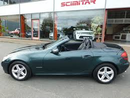 green mercedes benz used green mercedes slk for sale cheshire